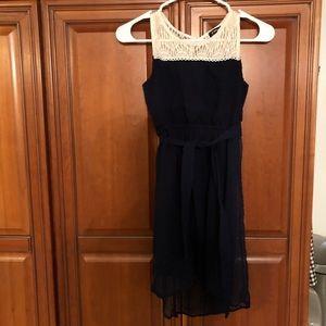 Girls navy dress 12